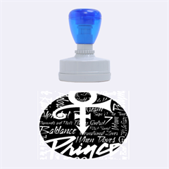 Prince Poster Rubber Oval Stamps by Onesevenart