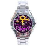 Prince Poster Stainless Steel Analogue Watch