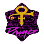 Prince Poster Snowflake Ornament (2-Side)