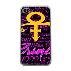 Prince Poster Apple Iphone 4 Case (clear) by Onesevenart