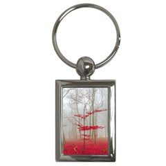 Magic Forest In Red And White Key Chains (rectangle)  by wsfcow