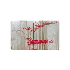 Magic Forest In Red And White Magnet (name Card) by wsfcow