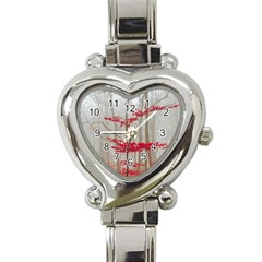 Magic Forest In Red And White Heart Italian Charm Watch