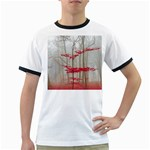 Magic forest in red and white Ringer T-Shirts Front