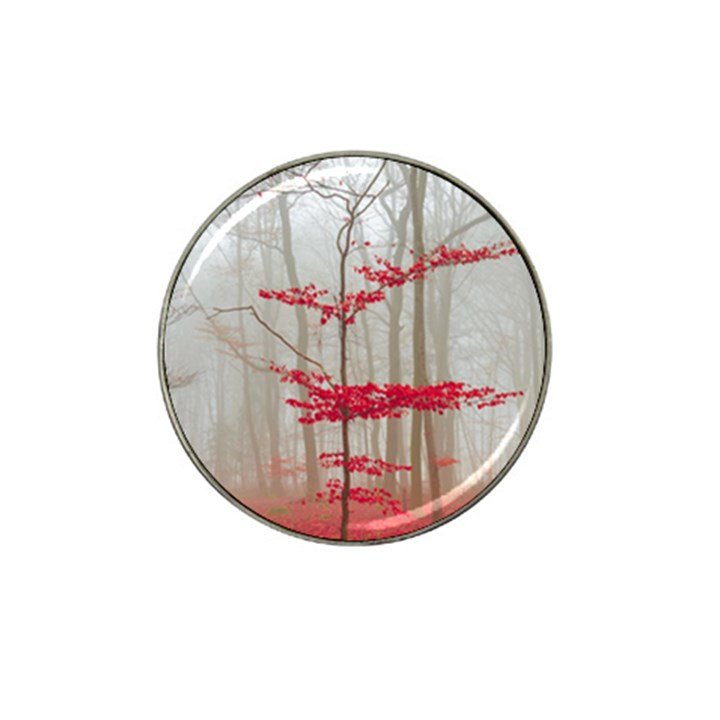 Magic forest in red and white Hat Clip Ball Marker