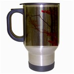 Magic forest in red and white Travel Mug (Silver Gray) Left
