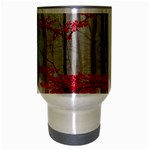 Magic forest in red and white Travel Mug (Silver Gray) Center