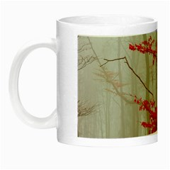 Magic Forest In Red And White Night Luminous Mugs by wsfcow