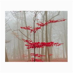 Magic Forest In Red And White Small Glasses Cloth by wsfcow