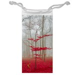 Magic forest in red and white Jewelry Bags Front