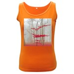 Magic forest in red and white Women s Dark Tank Top Front