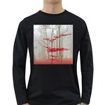 Magic forest in red and white Long Sleeve Dark T-Shirts