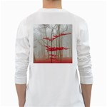 Magic forest in red and white White Long Sleeve T-Shirts Back