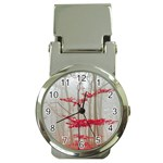 Magic forest in red and white Money Clip Watches Front
