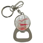Magic forest in red and white Bottle Opener Key Chains