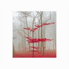 Magic Forest In Red And White Collage Prints by wsfcow