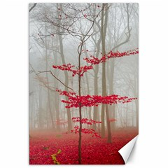Magic Forest In Red And White Canvas 20  X 30   by wsfcow