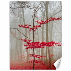 Magic Forest In Red And White Canvas 36  X 48   by wsfcow