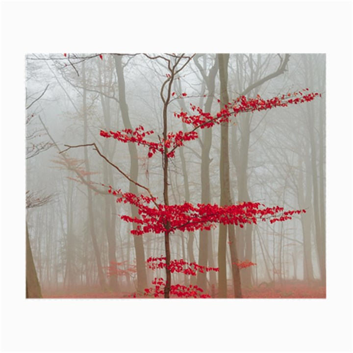 Magic forest in red and white Small Glasses Cloth (2-Side)