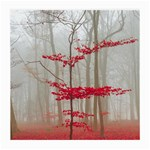 Magic forest in red and white Medium Glasses Cloth Front