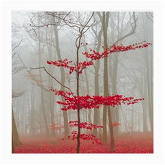 Magic Forest In Red And White Medium Glasses Cloth (2 Side) by wsfcow