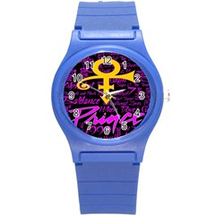 Prince Poster Round Plastic Sport Watch (s) by Onesevenart