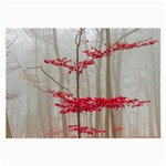 Magic forest in red and white Large Glasses Cloth (2-Side) Back