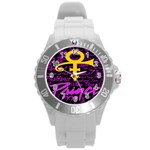 Prince Poster Round Plastic Sport Watch (L)