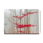 Magic forest in red and white Small Doormat  24 x16 Door Mat - 1