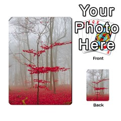Magic Forest In Red And White Multi Purpose Cards (rectangle)