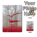 Magic forest in red and white Multi-purpose Cards (Rectangle)  Back 12