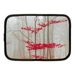 Magic forest in red and white Netbook Case (Medium)  Front