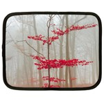 Magic forest in red and white Netbook Case (Large)