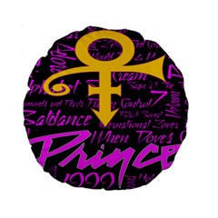 Prince Poster Standard 15  Premium Round Cushions by Onesevenart