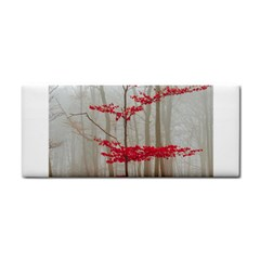 Magic Forest In Red And White Hand Towel by wsfcow