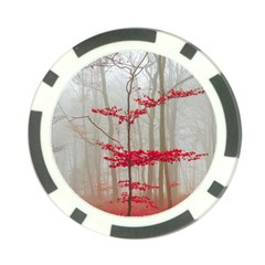 Magic Forest In Red And White Poker Chip Card Guards (10 Pack)  by wsfcow