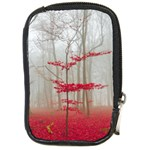Magic forest in red and white Compact Camera Cases