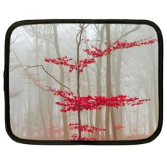 Magic Forest In Red And White Netbook Case (xl)  by wsfcow