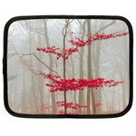 Magic forest in red and white Netbook Case (XXL)  Front