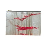 Magic forest in red and white Cosmetic Bag (Large)  Front
