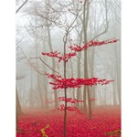 Magic forest in red and white Large Memo Pads 4.125 x5.5  Memopad