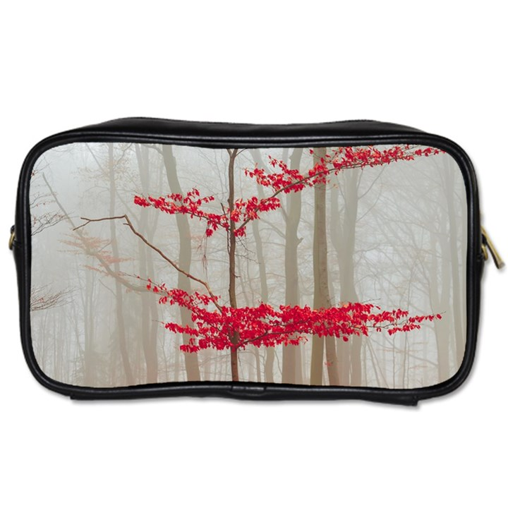 Magic forest in red and white Toiletries Bags