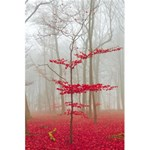 Magic forest in red and white 5.5  x 8.5  Notebooks Back Cover Inside