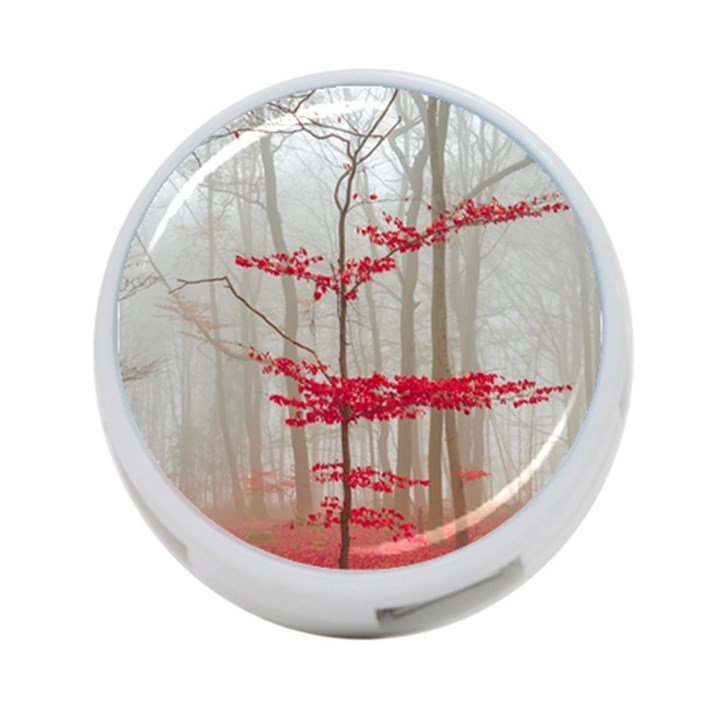 Magic forest in red and white 4-Port USB Hub (One Side)