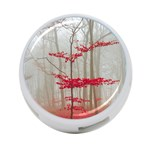 Magic forest in red and white 4-Port USB Hub (Two Sides)  Back