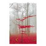 Magic forest in red and white Shower Curtain 48  x 72  (Small)