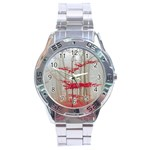 Magic forest in red and white Stainless Steel Analogue Watch Front