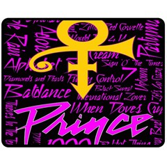 Prince Poster Double Sided Fleece Blanket (medium)  by Onesevenart