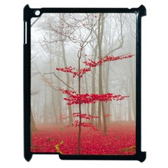 Magic Forest In Red And White Apple Ipad 2 Case (black) by wsfcow