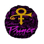 Prince Poster Standard 15  Premium Flano Round Cushions
